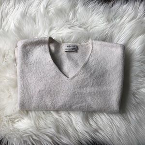 Babaton White Wool Top